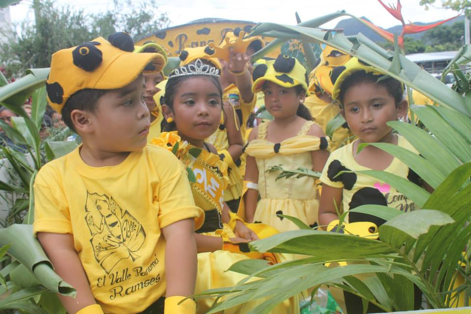 Panamanian Children Celebrating the Golden Frog