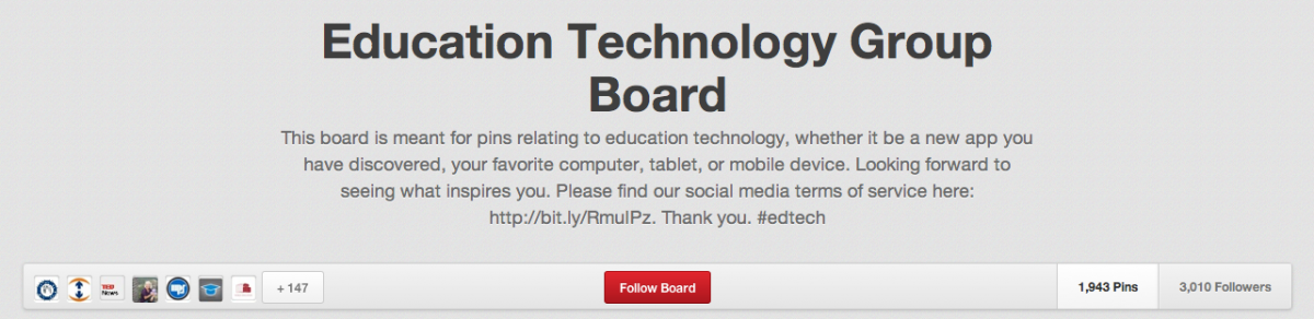 Education Technology Group Pintrest page