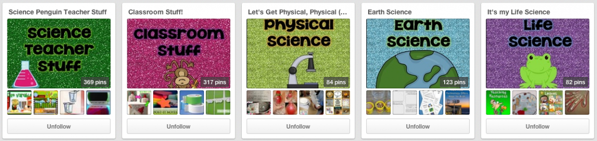 Science Penguin Pinterest Page