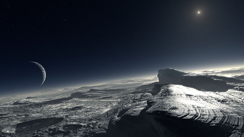 artists interpretation of the surface of Pluto