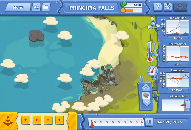 Image from Disaster Detector, an educational game developed by the SSEC