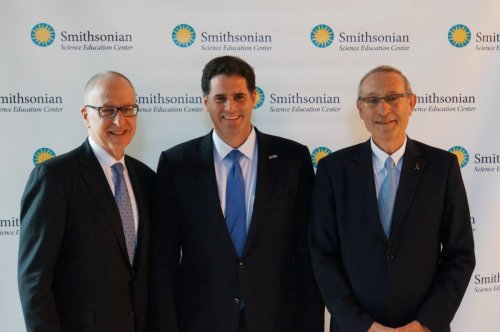 Dr. Skorton, His Excellency Ron Dermer Ambassador of Israel to the United States and Professor Ben-Sasson