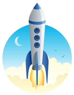 Rocket Ship Graphic