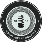 Badge identifying Morphy as an Official Webby Award Honoree
