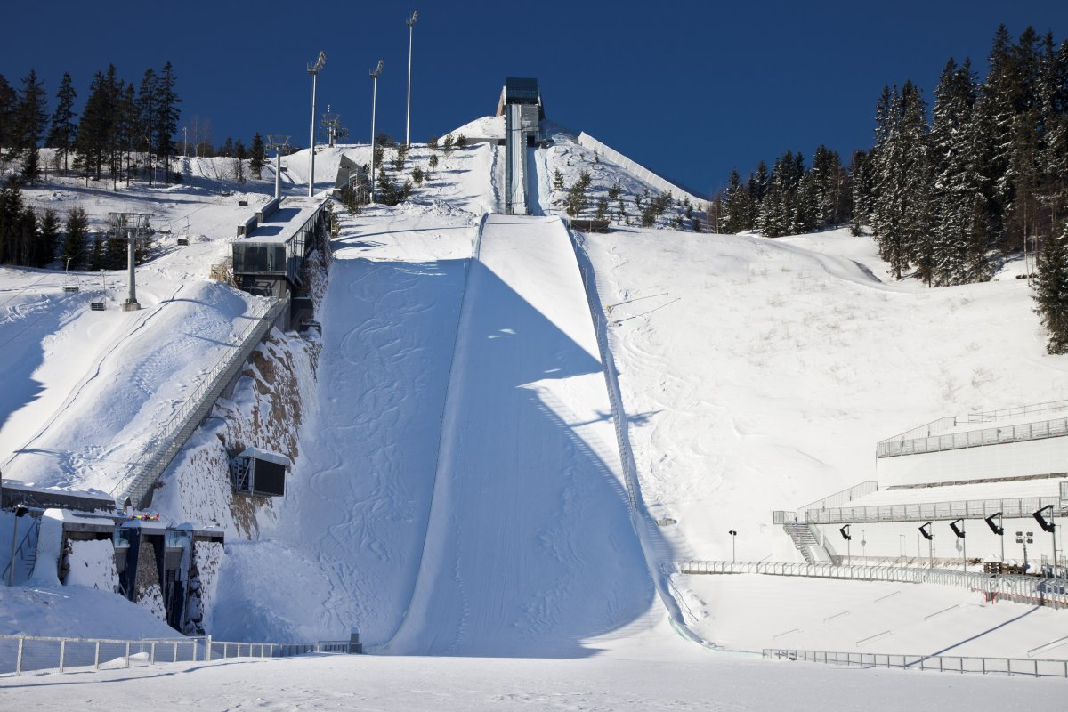 Image of a ski jumping ramp