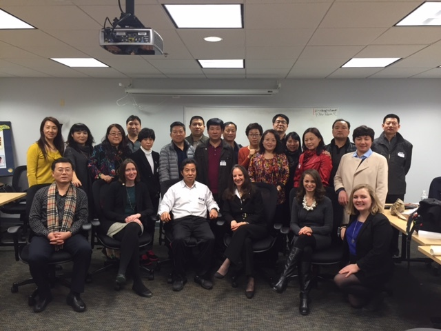 Photo of Smithsonian Science Education Center staff with school principals from Beijing, China.