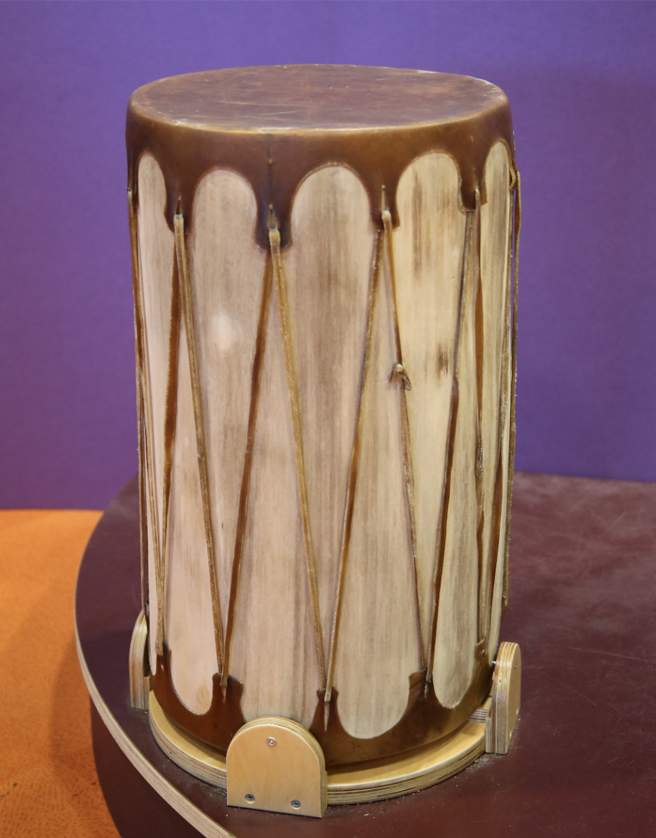 Image of a Cochiti Pueblo drum and drumstick