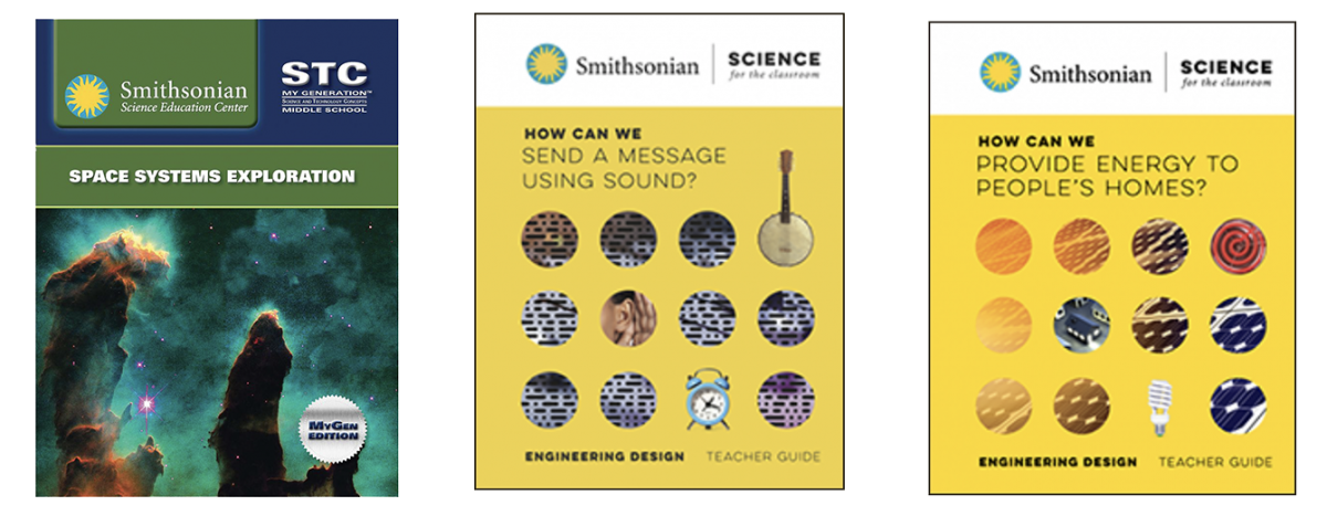 Covers of Smithsonian Science Education Center Curriculum