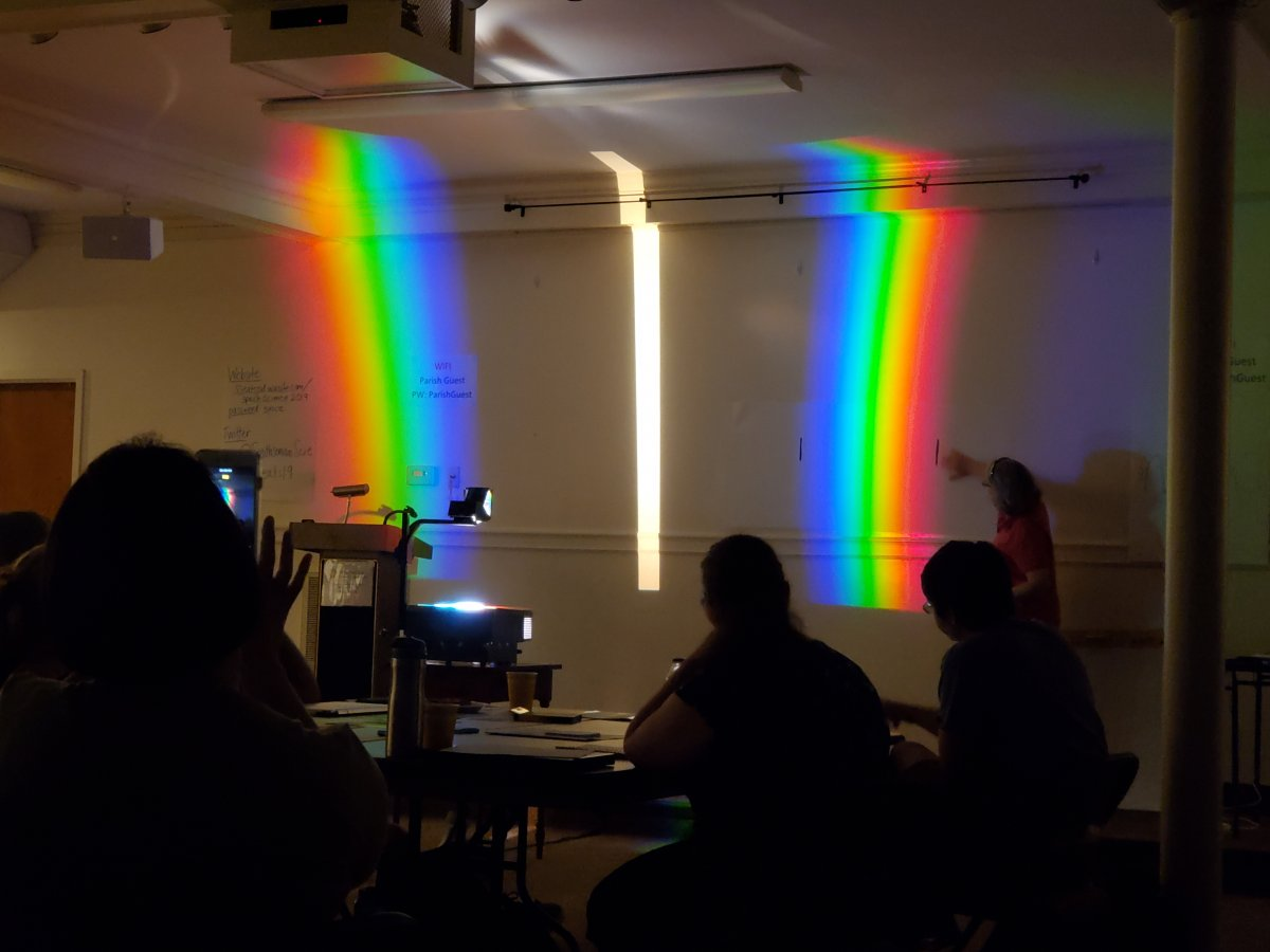 An activity involving prisms at the space science SSEAT