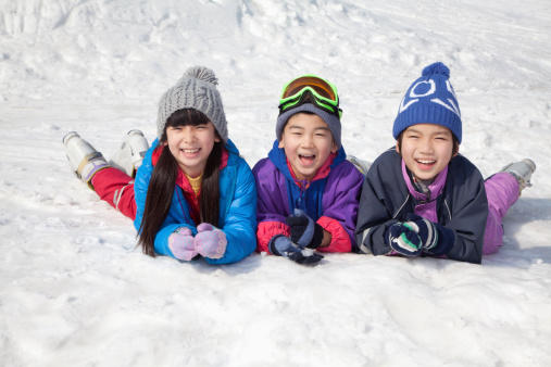 Photo of children playing in snow