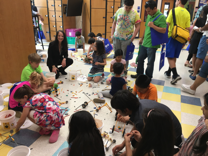 Dr. Carol O'Donnell of the Smithsonian Science Education Center worked with 203 girls and boys at the fifth annual K-12 Science, Technology, Engineering and Mathematics (STEM) Symposium on April 14, 2018 held at the Nysmith School in Herndon, Virginia.