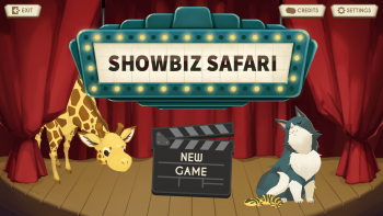 Title screen for the education life science game, Showbiz Safari