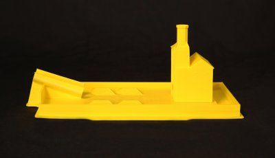 Image of 3D printed Smithsonian Castle and pan