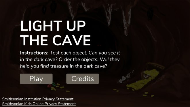 Light Up the Cave title screen