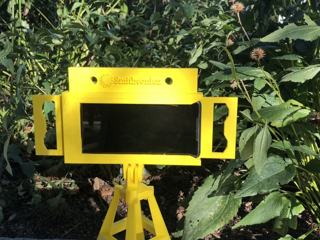 Image of camera trap in a garden