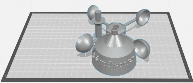 image of 3d rendering of anemometer