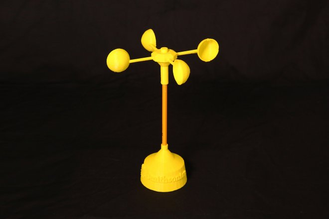 Image of a 3D printed anemometer