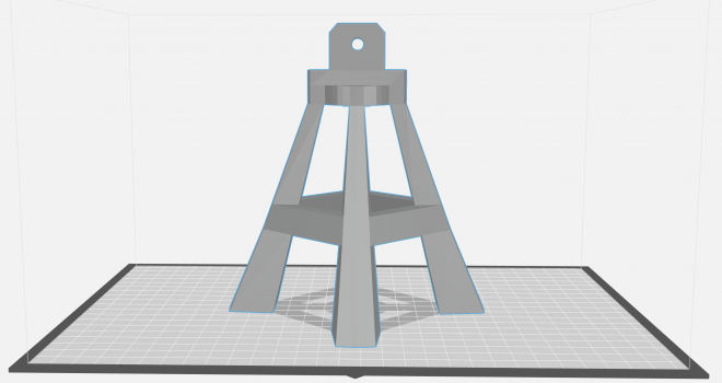 image of 3d rendering of camera stand