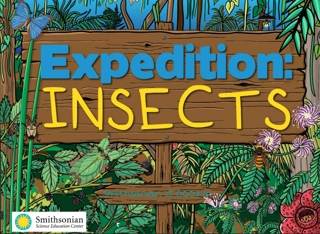 Title screen for the interactive e-Book, Expedition: Insects