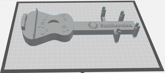 image of 3d rendering of guitar