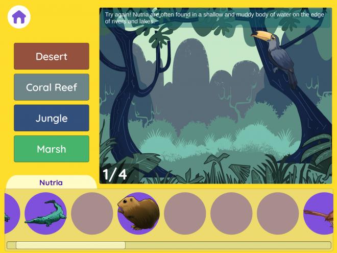 A jungle habitat in Habitats