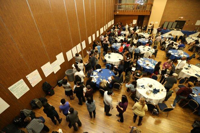 Teams working at leadership summit. Photo Credit: OB Grant, Fulltone Photography