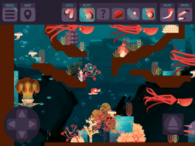 Screenshot from the educational life science game Morphy.