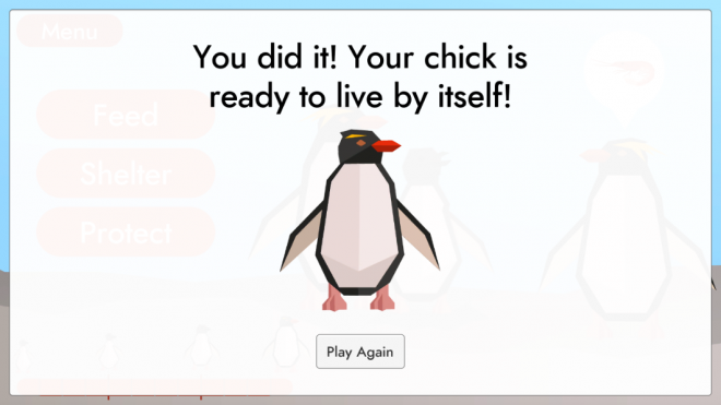 Penguin Protection final success screen