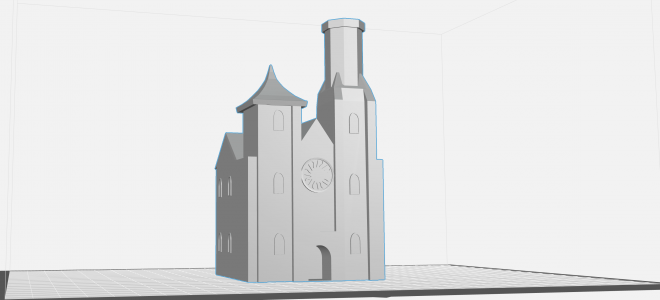 Image of 3d rendering of Smithsonian Castle