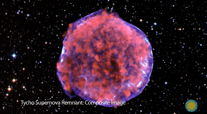 Composite image of stars from the Chandra X-ray Telescope
