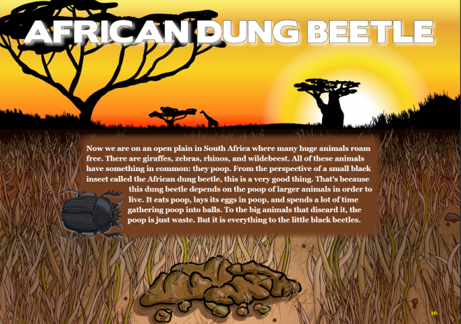 Screenshot from the interactive e-Book, Expedition: Insects