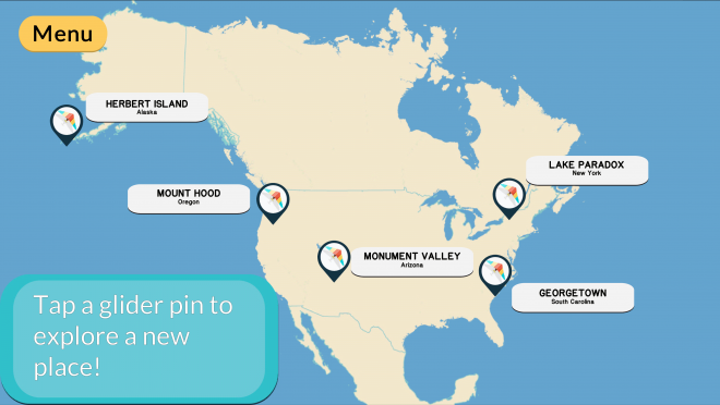 Glider Guide Map Screen
