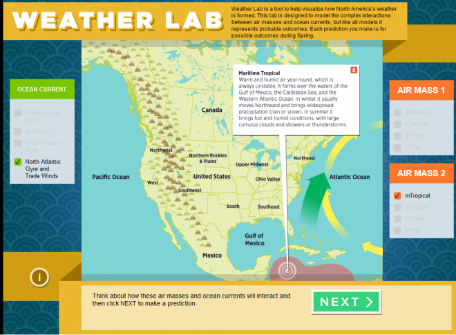 weather lab simulation